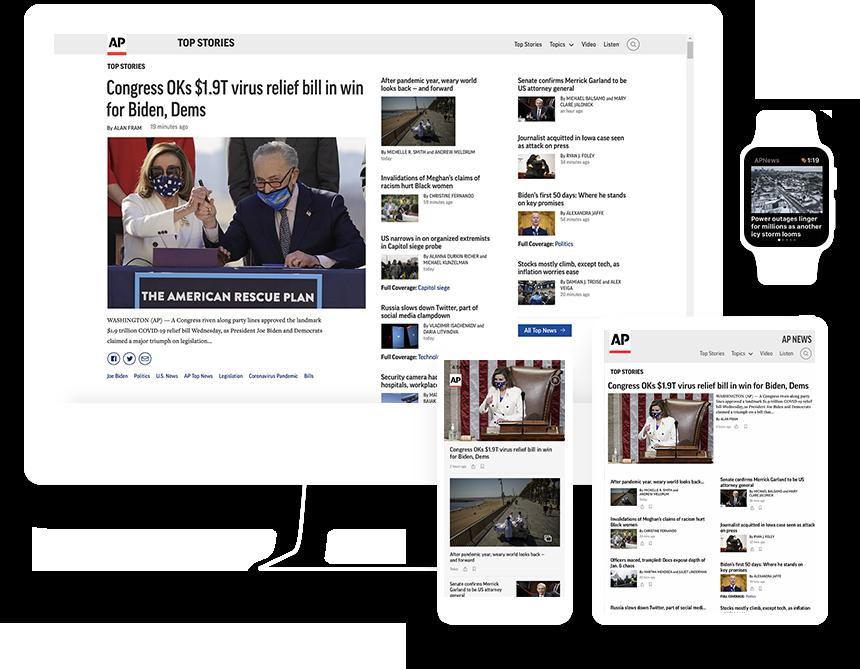 AP News website and app
